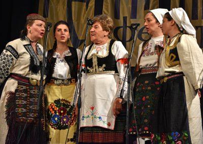 Olga Krasojević i Pjevačka družina Svetlane Spajić, Retnik 2017. Foto: Leskovački kulturni centar