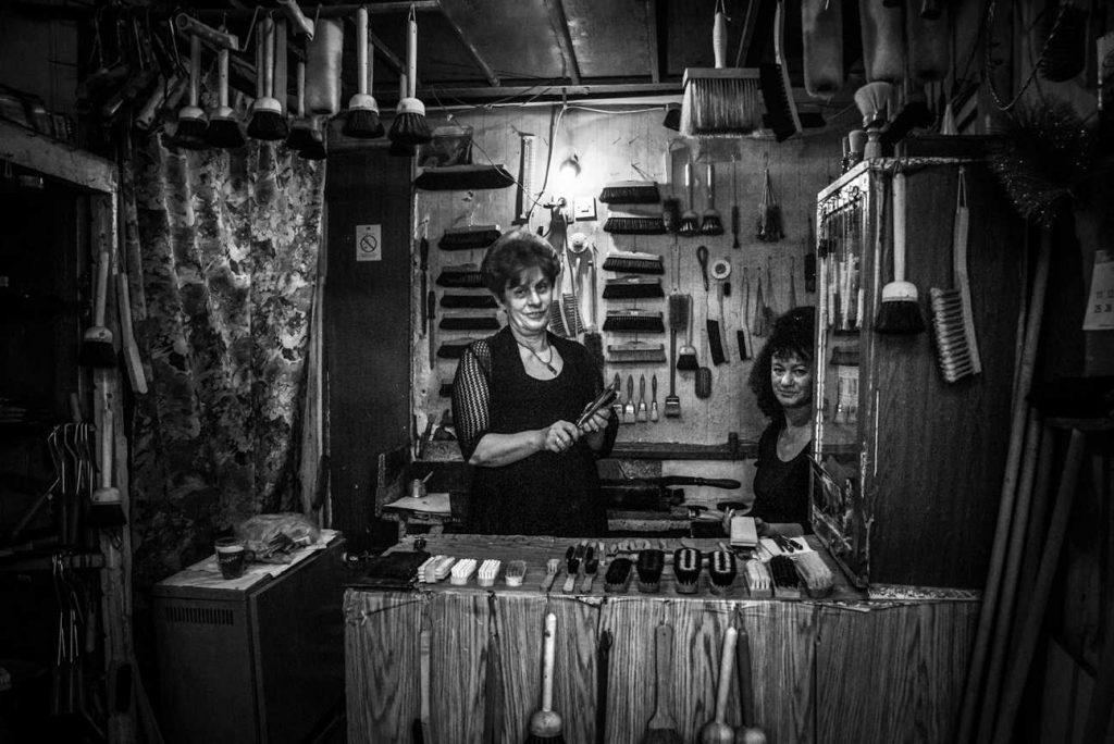 Brush-maker Ružice Živković in her shop in Džordža Vašingtona Street, City of Belgrade. PHOTO BY Maja Stošić